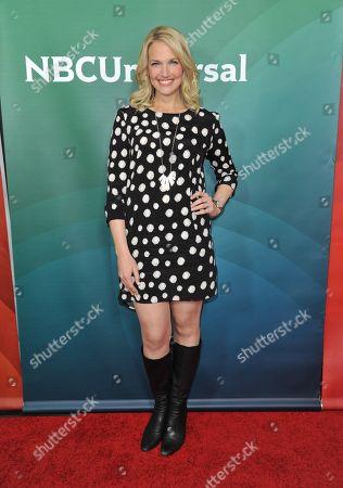 Stock Image of Monica Pedersen seen at the NBC/Universal Winter 2014 TCA on in Pasadena, Calif