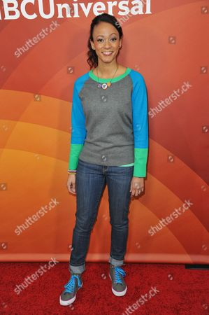 Kaitlin Becker seen at the NBC/Universal Winter 2014 TCA on in Pasadena, Calif