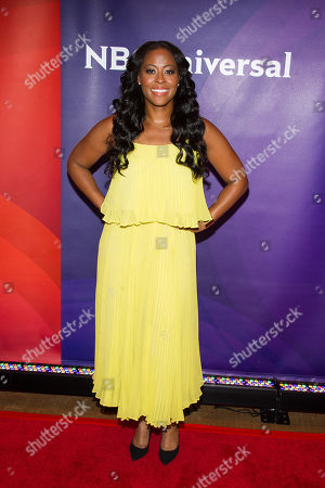 Nichelle Hines arrives at the NBCUniversal New York Summer Press Day event at The Four Seasons Hotel, in New York
