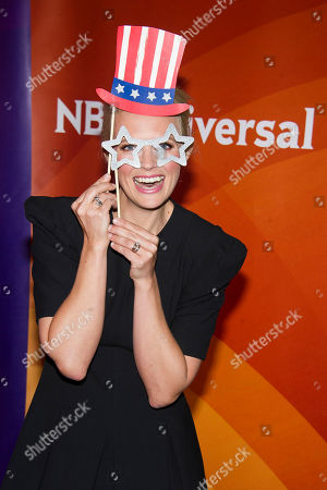 Stock Photo of Josephine Bornebusch arrives at the NBCUniversal New York Summer Press Day event at The Four Seasons Hotel, in New York