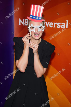 Stock Picture of Josephine Bornebusch arrives at the NBCUniversal New York Summer Press Day event at The Four Seasons Hotel, in New York