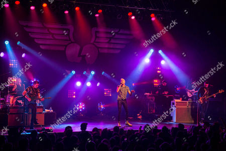 Stock Image of Tyler Glenn, Chris Allen, Branden Campbell and Elaine Bradley with Neon Trees performs at Center Stage, in Atlanta