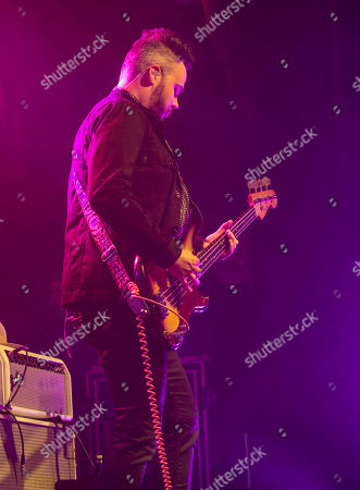 Branden Campbell with Neon Trees performs at Center Stage, in Atlanta