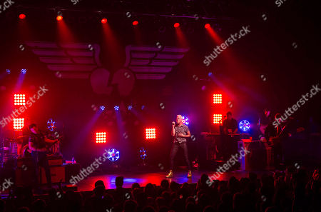 Tyler Glenn, Chris Allen, Branden Campbell and Elaine Bradley with Neon Trees performs at Center Stage, in Atlanta
