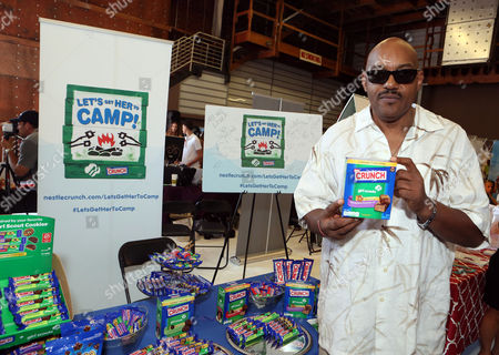Actor Ken Foree supports the #LetsGetHerToCamp campaign with Nestle Crunch Girl Scout Candy Bars at an Emmy Awards gift suite on in Los Angeles. To help send girls to Girl Scout camp visit NestleCrunch.com/LetsGetHerToCamp by August 31