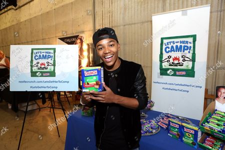 Josh Levi supports the #LetsGetHerToCamp campaign with Nestl? Crunch Girl Scout Candy Bars at a Teen Choice Awards gift suite on in Los Angeles. To help send girls to Girl Scout camp visit NestleCrunch.com/LetsGetHerToCamp by August 31