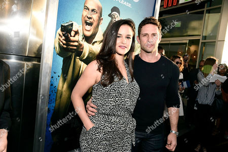 """Melissa Fumero and David Fumero seen at New Line Cinema Los Angeles Premiere of """"Keanu"""" at ArcLight Cinerama Dome Theater, in Hollywood"""