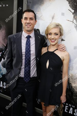 """Director Brad Peyton and Breanne Hill seen at New Line Cinema presents the Los Angeles World Premiere of """"San Andreas"""" at TCL Chinese Theatre, in Hollywood, CA"""