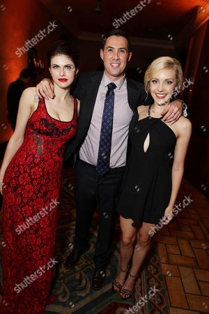 """Stock Image of Alexandra Daddario, Director Brad Peyton and Breanne Hill seen at New Line Cinema presents the Los Angeles World Premiere of """"San Andreas"""" at TCL Chinese Theatre, in Hollywood, CA"""