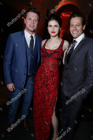 "Hugo Johnstone-Burt, Alexandra Daddario and Ioan Gruffudd seen at New Line Cinema presents the Los Angeles World Premiere of ""San Andreas"" at TCL Chinese Theatre, in Hollywood, CA"