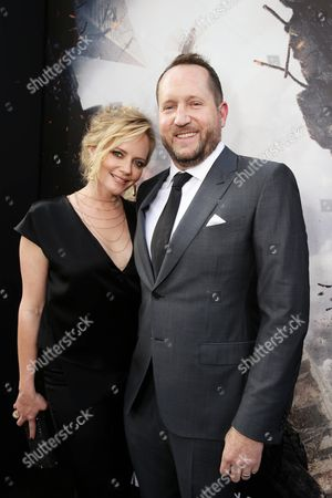 "Marley Shelton and Producer Beau Flynn seen at New Line Cinema presents the Los Angeles World Premiere of ""San Andreas"" at TCL Chinese Theatre, in Hollywood, CA"