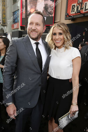 "Producer Beau Flynn and Associate Producer Wendy Jacobson seen at New Line Cinema presents the Los Angeles World Premiere of ""San Andreas"" at TCL Chinese Theatre, in Hollywood, CA"