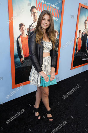 """Catherine Missal seen at the New Line Cinema presents the Premiere of """"Vacation"""" held at Regency Village Theatre, in Westwood, Calif"""