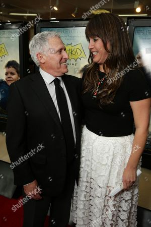 """President, Domestic Distribution, Warner Bros. Pictures - Dan Fellman and Director/Producer/Writer Dana Nachman seen at New Line Cinema Los Angeles Special Screening of """"Batkid Begins"""" at The Landmark Theatre, in Los Angeles, CA"""