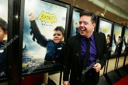 "Stock Picture of Mike Jutan seen at New Line Cinema Los Angeles Special Screening of ""Batkid Begins"" at The Landmark Theatre, in Los Angeles, CA"