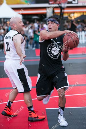 Mark Salling plays in the Nike Basketball 3ON3 Tournament - ESPNLA 710 All-Star Celebrity Game held at L.A. LIVEâ?™s Microsoft Square, in Los Angeles