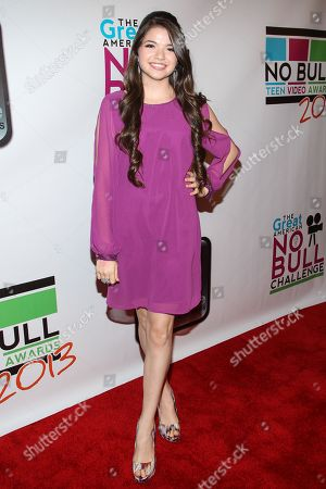 Actress Jadin Gould arrives at the No Bull Teen Video Awards at the Westin LAX Hotel on in Los Angeles