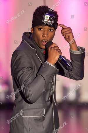 Actor Nadji Jeter hosts the No Bull Teen Video Awards at the Westin LAX Hotel on in Los Angeles