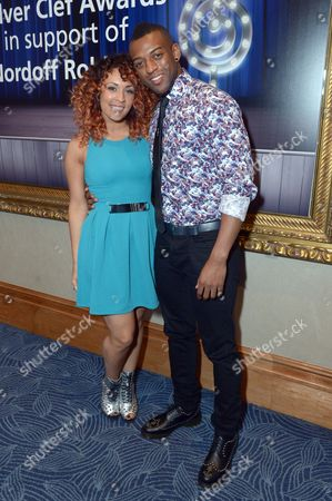 Aimee Jade and Oritse Williams at Nordoff Robbins O2 Silver Clef Awards 2013 at the London Hilton, in London