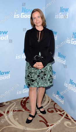 Jenny Downham poses at Now is Good European Premiere at The Washington Hotel on in London