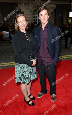 Stock Photo of Jenny Downham, Louis Hill poses at Now is Good European Premiere at The Washington Hotel on in London