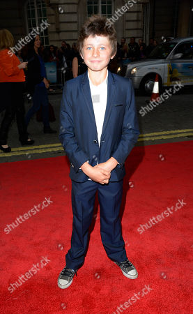 Stock Picture of Edgar Canham poses at Now is Good European Premiere at The Washington Hotel on in London