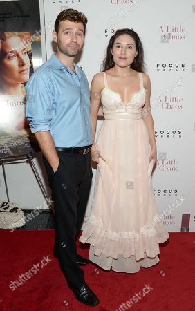 """Stock Image of John Buffalo Mailer and Katrina Eugenia attend the premiere of """"A Little Chaos"""" at the Museum of Modern Art, in New York"""