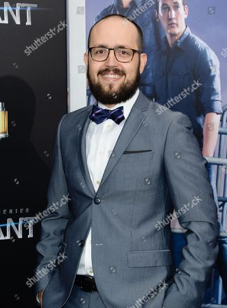 """Composer Joseph Trapanese attends the premiere of """"Allegiant"""" at AMC Lincoln Square, in New York"""