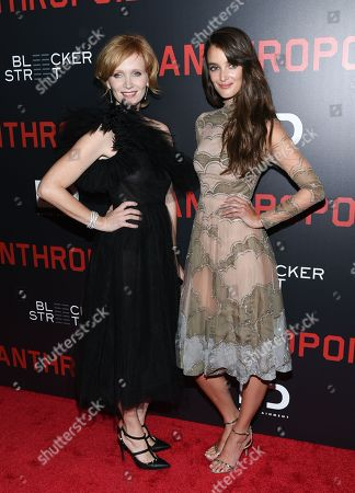 """Actors Ana Geislerova, left, and Charlotte Le Bon attend the premiere of """"Anthropoid"""" at AMC Loews Lincoln Square, in New York"""
