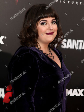 """Stock Photo of Jenny Zigrino attends the premiere of """"Bad Santa 2"""" at AMC Loews Lincoln Square, in New York"""