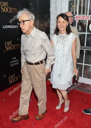"""Director Woody Allen and wife Soon-Yi Previn attend the premiere of Amazon Studio and Liongate's """"Cafe Society"""", hosted by The Cinema Society, at the Paris Theatre, in New York"""