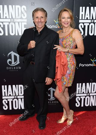 """Stock Image of Actor Rick Avery and Donna Keegan Avery attend the U.S. premiere of """"Hands of Stone"""" at the SVA Theatre, in New York"""