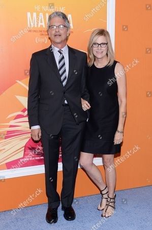 "Producers Walter Parkes and Laurie MacDonald attend the premiere of ""He Named Me Malala"" at The Ziegfeld Theatre, in New York"