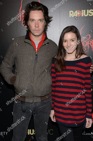 """Singer Rufus Wainwright and Kick Kennedy attend the premiere of """"Horns"""" at The Landmark Sunshine Theater on in New York"""