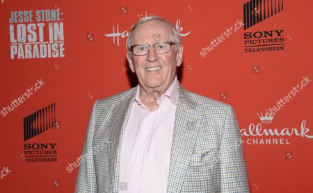 """Actor Len Cariou attends the Hallmark Channel """"Jesse Stone: Lost in Paradise"""" world premiere at The Roxy Hotel on in New York"""