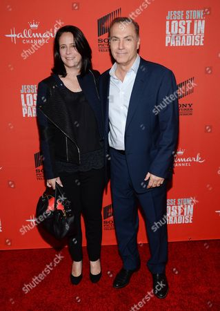 """Actor Al Sapienza and wife attend the Hallmark Channel """"Jesse Stone: Lost in Paradise"""" world premiere at The Roxy Hotel on in New York"""