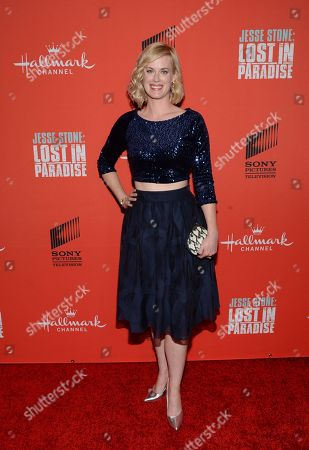 "Actress Abigail Hawk attends the Hallmark Channel ""Jesse Stone: Lost in Paradise"" world premiere at The Roxy Hotel on in New York"