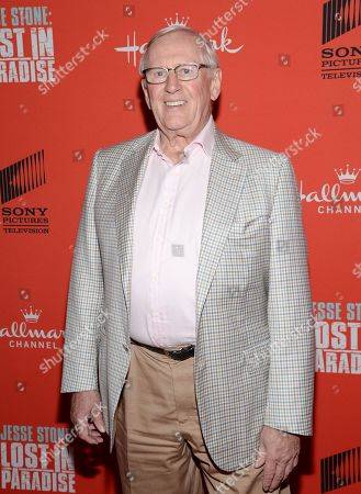 """Stock Photo of Actor Len Cariou attends the Hallmark Channel """"Jesse Stone: Lost in Paradise"""" world premiere at The Roxy Hotel on in New York"""