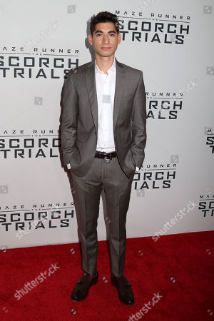 "Alexander Flores attends the premiere of ""Maze Runner: The Scorch Trials"" at the Regal Cinemas E-Walk, in New York"