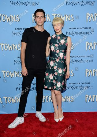 """Erin Fetherston and husband Gabe Saporta attend the premiere of """"Paper Towns"""" at AMC Loews Lincoln Square, in New York"""