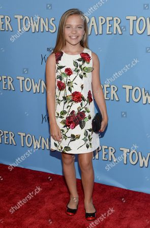 """Stock Picture of Meg Crosbie attends the premiere of """"Paper Towns"""" at AMC Loews Lincoln Square, in New York"""
