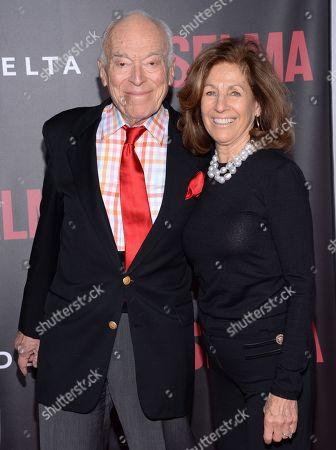 "Leonard Lauder and girlfriend Linda Johnson attend the premiere of ""Selma"" at the Ziegfeld Theatre, in New York"