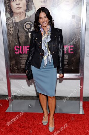 """Stock Image of Darlene Rodriguez attends the premiere for """"Suffragette"""" at the Paris Theatre, in New York"""