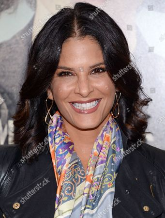 """Stock Photo of Darlene Rodriguez attends the premiere for """"Suffragette"""" at the Paris Theatre, in New York"""