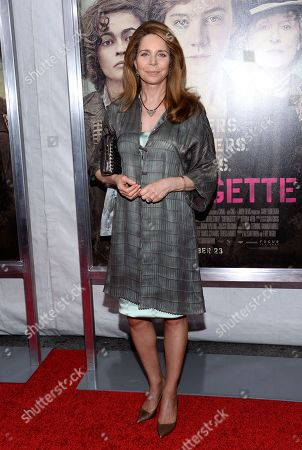 """Queen Noor of Jordan attends the premiere for """"Suffragette"""" at the Paris Theatre, in New York"""