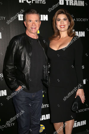 """Stock Picture of Alan Thicke, left, and Tanya Thicke attend the premiere for """"The D Train"""" hosted by The Cinema Society at the Landmark Sunshine Cinema, in New York"""