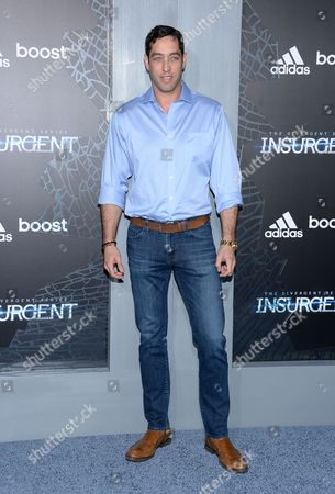 """Nick Loeb attends the premiere of """"The Divergent Series: Insurgent"""" at the Ziegfeld Theatre, in New York"""
