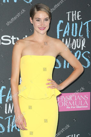 """Actress Shailiene Woodley attends the premiere of 20th Century Fox's """"The Fault In Our Stars"""" at the Ziegfeld Theatre, in New York"""