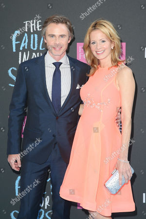 Actor Sam Trammell and and his partner Missy Yager attend the premiere of 20th Century Fox's 'The Fault In Our Stars' at the Ziegfeld Theatre, in New York