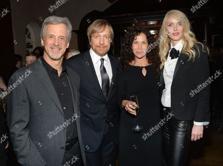 """Editor William Goldenberg, director Morten Tyldum, Allison Diftler and Janne Tyldum attend the """"The Imitation Game"""" premiere party at Tavern On The Green, in New York"""